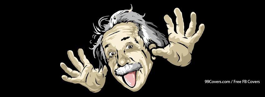Funny Albert Einstein Facebook Cover Photos