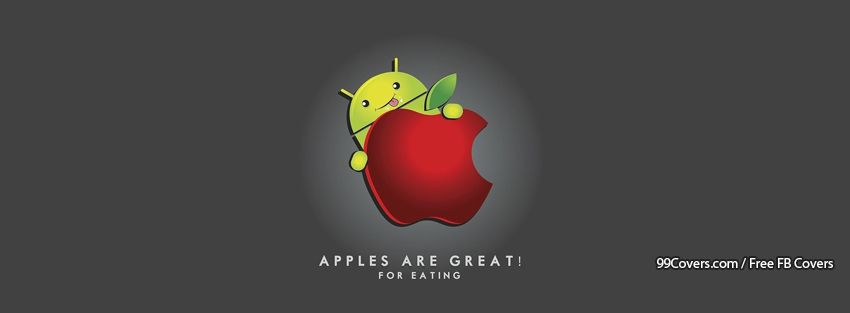 Funny Apple Android 2 Facebook Cover Photos