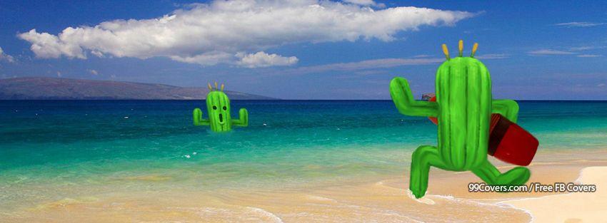 Funny Cactus Facebook Cover Photos