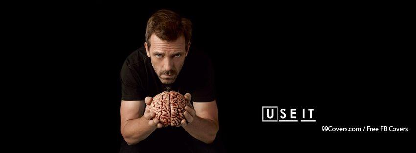 Funny Brain Hugh Laurie Gregory House House M.D. Facebook Cover Photos