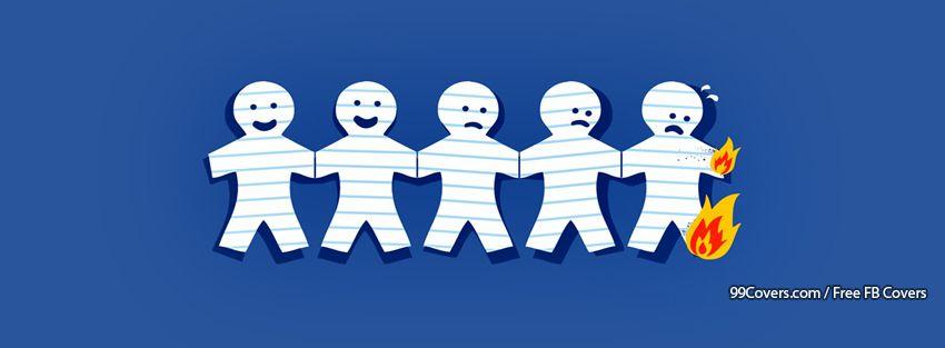 Funny Paper Faces Facebook Cover Photos