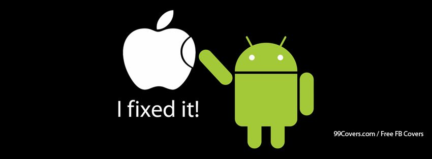 Funny Logos Apple Android Facebook Covers