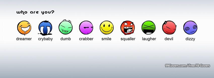 Funny Smiley Faces Facebook Cover Photos
