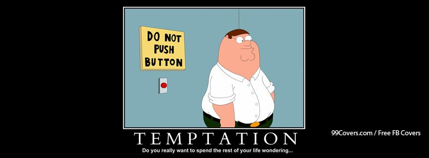 Funny Temptation Facebook Cover Photos