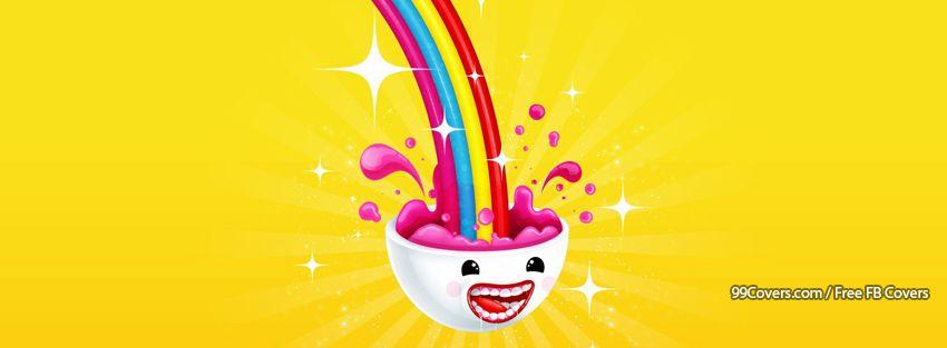 Funny Multicolor Rainbow Facebook Cover Photos