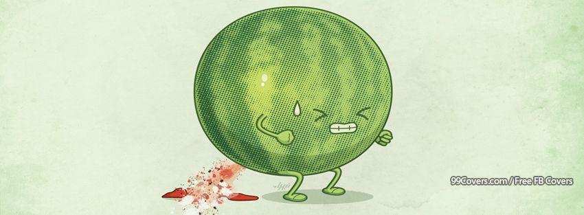 Funny Watermelon Facebook Cover Photos