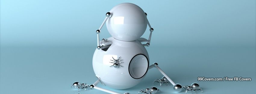 Funny Robot Spiders Facebook Cover Photos