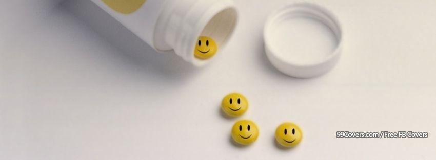 Funny Smiley Pills Facebook Cover Photos