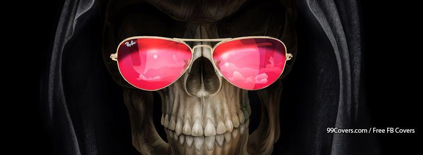 Funny Skull Facebook Cover Photos