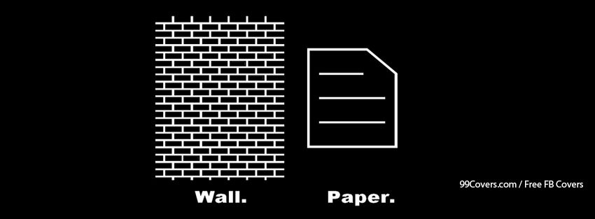 Funny Paper Wall Facebook Cover Photos