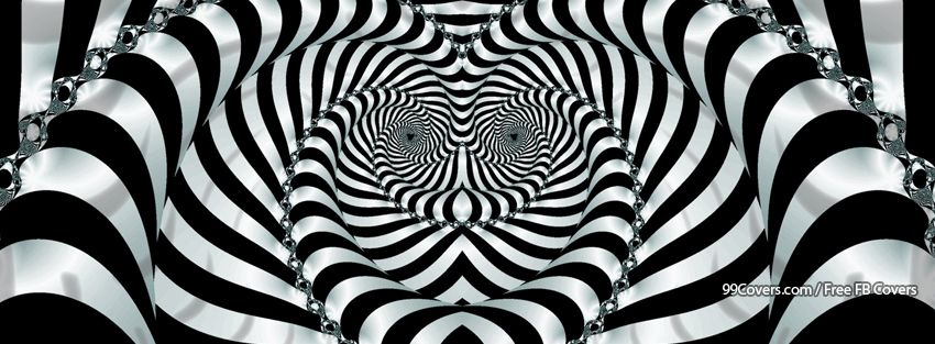 Trippy Zebra Facebook Covers