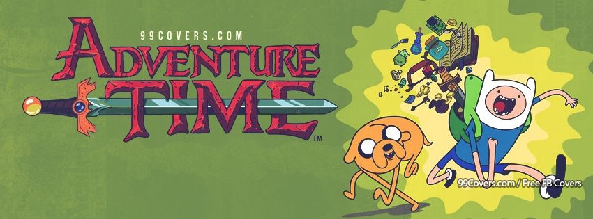 Adventure Time With Jake And Finn Facebook Covers