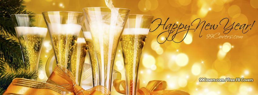 new years champagne facebook cover photos
