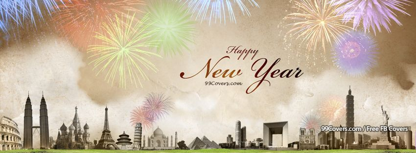 Facebook Cover Photos - Happy New Year Fireworks Landscape Facebook ...