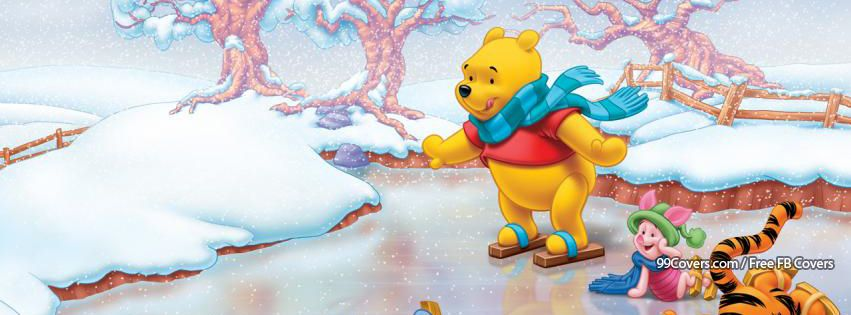 Winnie The Pooh Winter Facebook Covers
