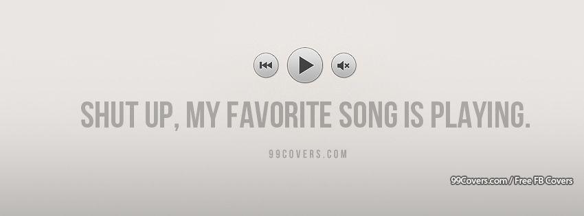 My Favorite Song Facebook Cover Photos