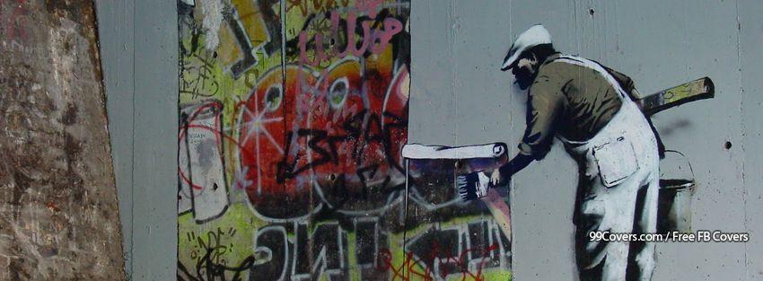 Banksy Street Art Graffiti Wallpaper Facebook Cover Photos