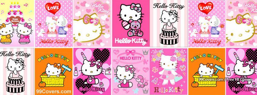 Hello Kitty Collage Facebook Cover Photos