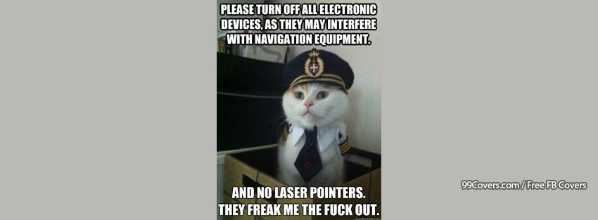 Captain Kitteh Laser Pointers Facebook Cover Photos
