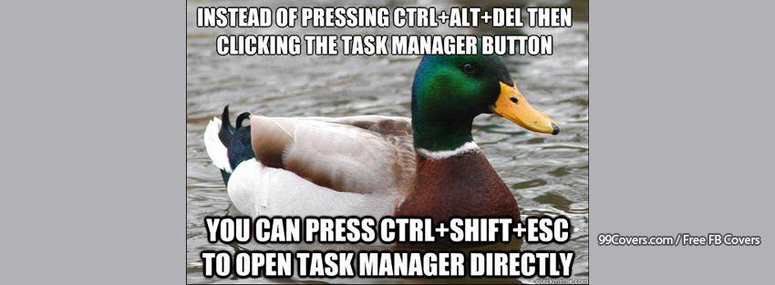 Actual Advice Mallard Task Manager Facebook Cover Photos