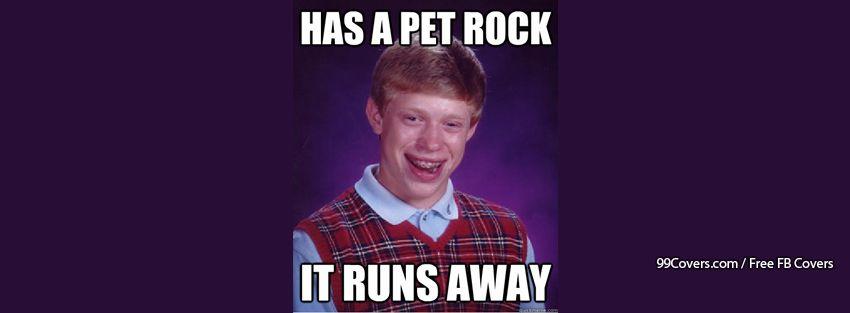 Bad Luck Brian Pet Rock Facebook Cover Photos