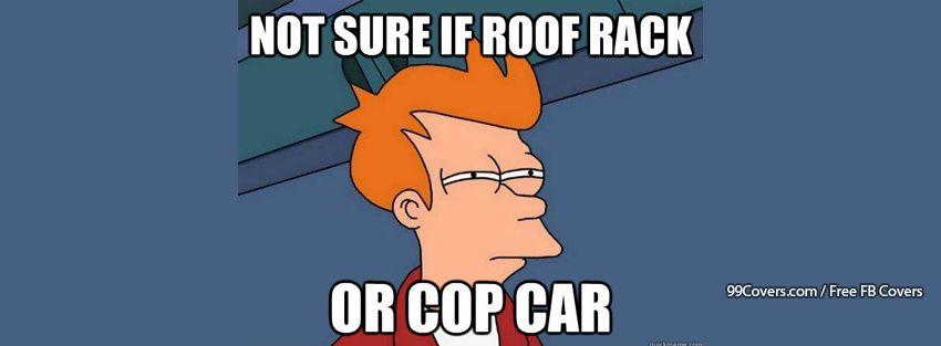 Futurama Fry Cop Car Facebook Cover Photos