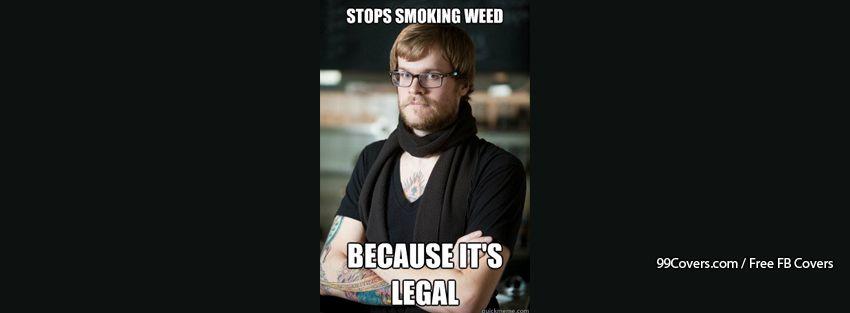 Hipster Barista Legal Weed Facebook Cover Photos