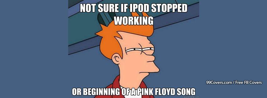 Futurama Fry Ipod Or Pink Floyd Facebook Cover Photos