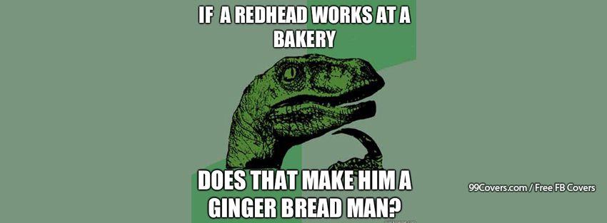 Philosoraptor Ginger Bread Man Facebook Cover Photos