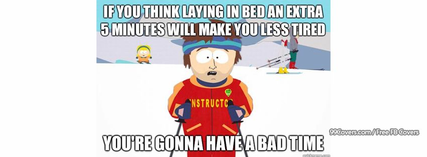 Super Cool Ski Instructor Laying In Bed Facebook Cover Photos