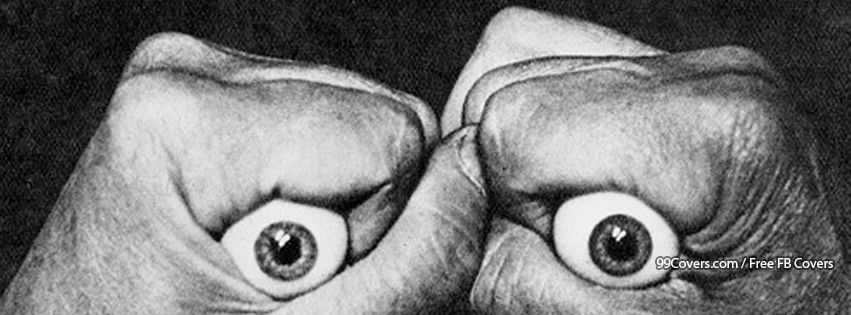 Vintage Eyes In Hand Facebook Cover Photos