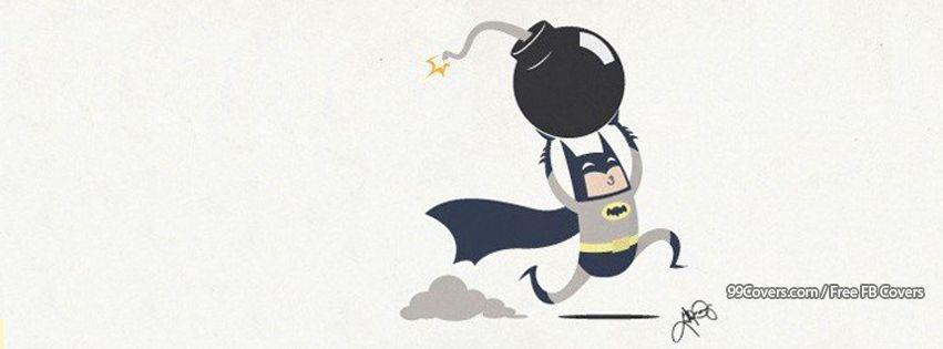 Batman Comic Bomb Sketch Facebook Cover Photos