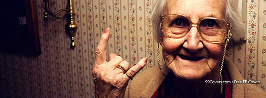 Rock N Roll Grandma Facebook Cover Photos