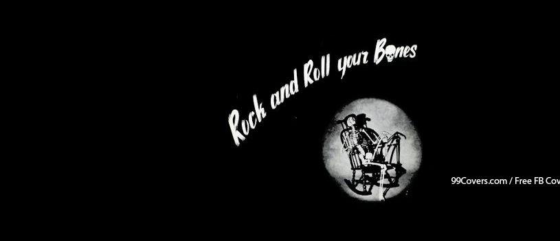 0dabdac2e2a Facebook Cover Photos - Rock N Roll Your Bones Skeleton Facebook Covers