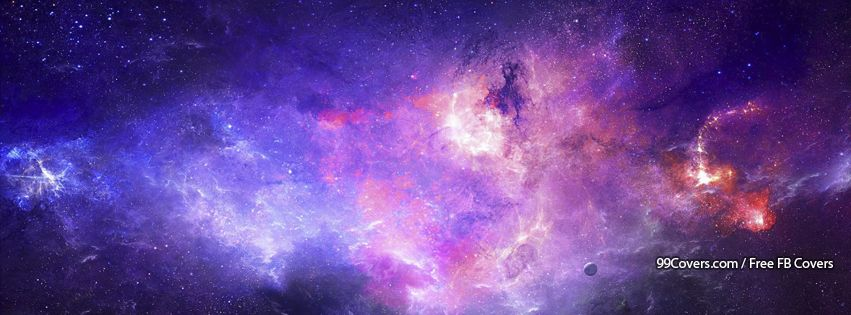 Purple Abstract Galaxy Facebook Cover Photos