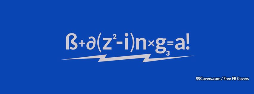 Bazinga Equation Facebook Cover Photos