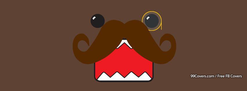 Funny Domo Kun Mustache Facebook Cover Photos