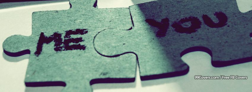 Love Puzzle Facebook Cover Photos