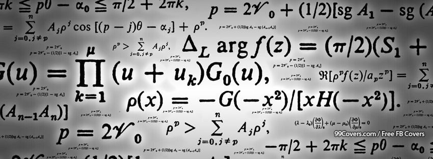 Formulas Math Equations Facebook Cover Photos