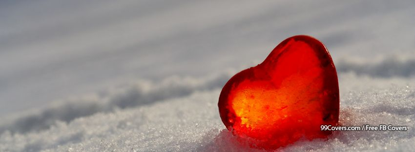 Snow Heart Facebook Covers