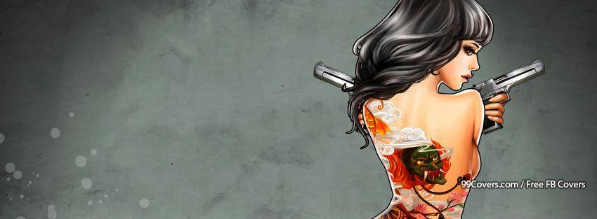 Girl Smoking Facebook Cover Photos Gun Girl Facebook Cover