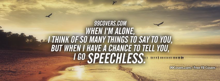 Speechless Facebook Cover Photos
