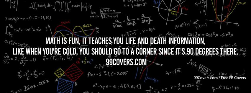Math Is Fun Facebook Cover Photos