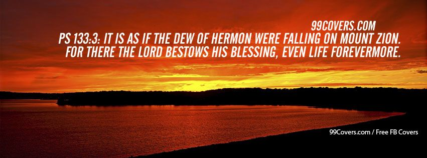 Ps 133:3  It Is As If The Dew Of Hermon Photos