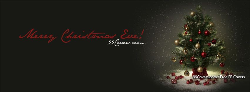 Merry Christmas Eve Tree Facebook Covers