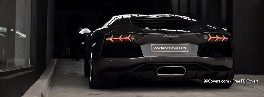 Facebook Cover Photos Black Lamborghini Aventador Rear View Pictures