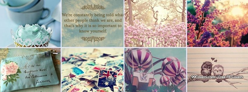 Facebook Cover Collage ~ Facebook cover photos girly everything collage
