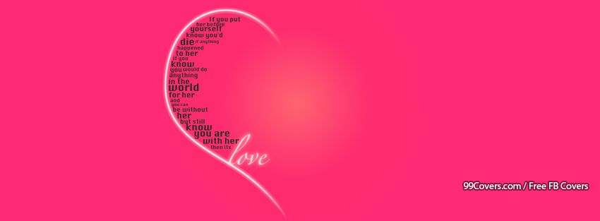 Love Quote Facebook Covers