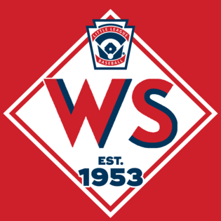 Wsll logo   navy   red outline red background