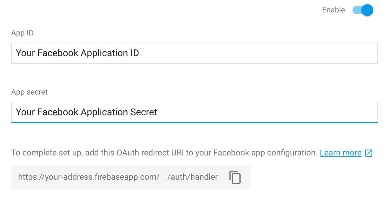 Firebase Facebook Login setup